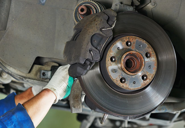Brake rotor replacement services at Phoenix car repair shop